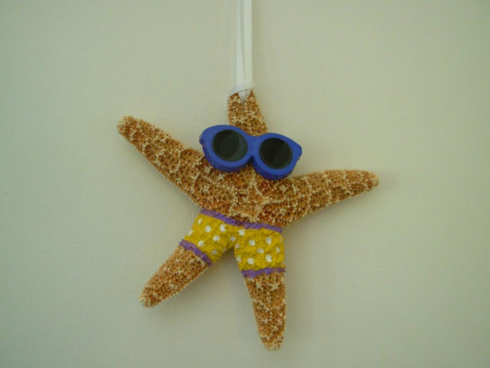 Starfish Christmas Ornament Handpainted