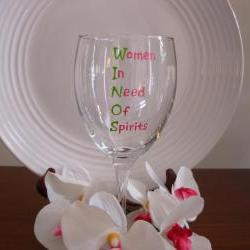 WINOS Wine Glass Handpainted